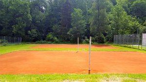 Obec Osík – rekonstrukce dvou kurtů na volejbal. Vyrovnání a zpevnění povrchu, nová antuková vrstva.